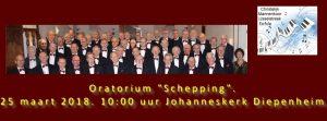 """Kerkdienst/Oratoriumdienst, Ds A.F.U. Braakman mmv Christelijk Mannenkoor IJsselstreek Eefde met """"Schepping"""""""