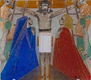 Statie 11 - Jezus wordt aan het kruis geslagen