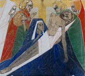 Statie 13 - Jezus wordt van het kruis genomen
