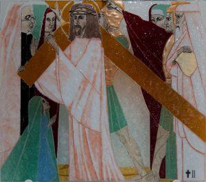 Statie 2 - Jezus krijgt het kruis op zijn schouder