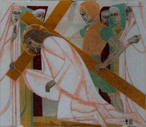 Statie 3 - Jezus valt voor de eerste maal
