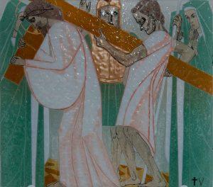 Statie 5 - Simon van Cyrene helpt het kruis te dragen
