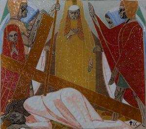 Statie 9 - Jezus valt voor de derde maal